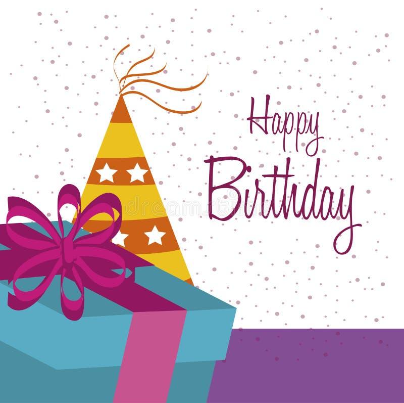Diseño del cumpleaños stock de ilustración