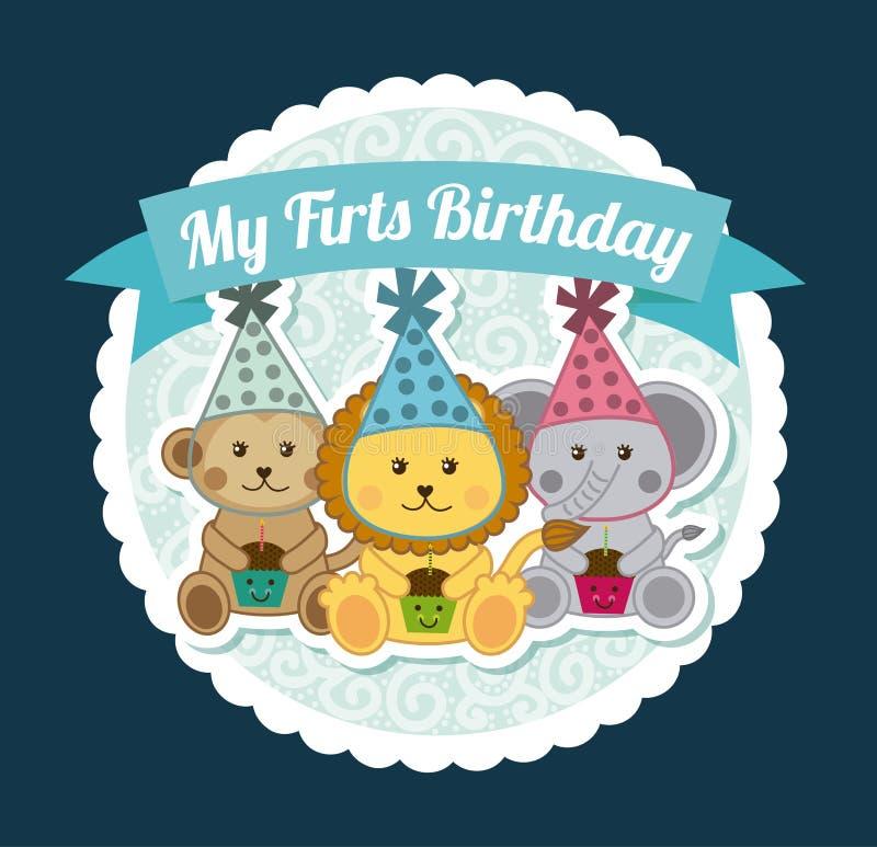 Download Diseño del cumpleaños ilustración del vector. Ilustración de sombreros - 42427142