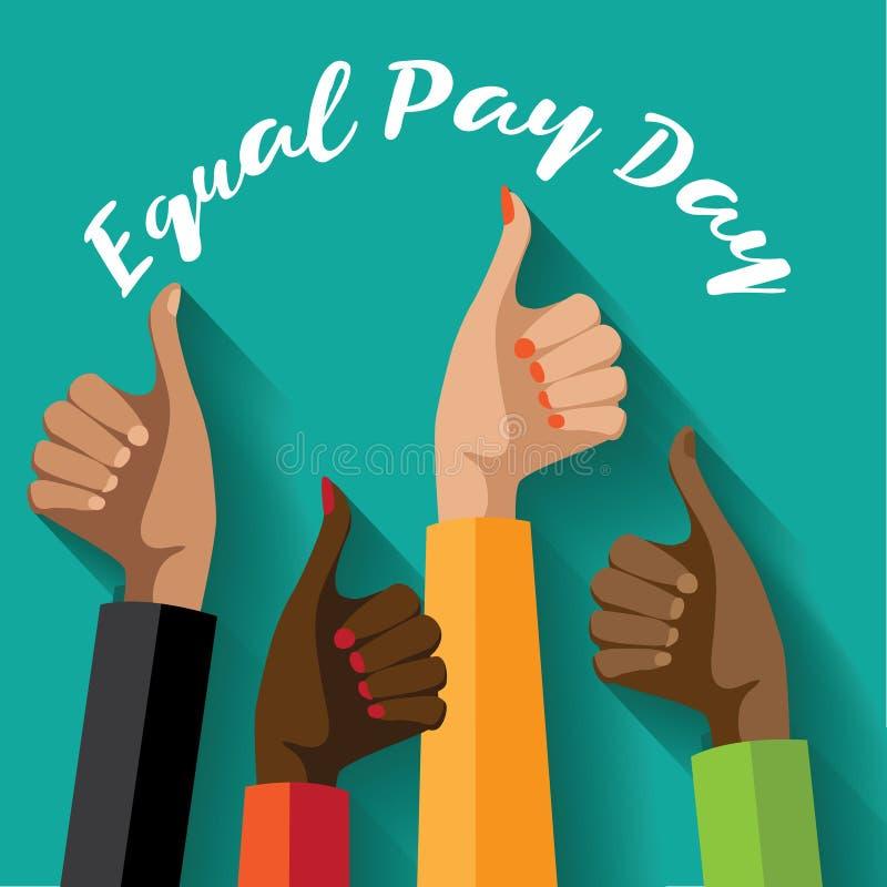 Diseño del día de la igualdad de salario ilustración del vector