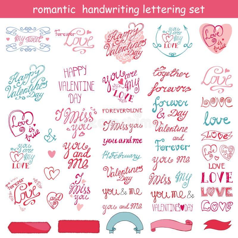 Diseño del día de tarjetas del día de San Valentín, etiquetas, elementos de los iconos stock de ilustración
