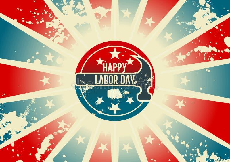 Diseño del Día del Trabajo stock de ilustración