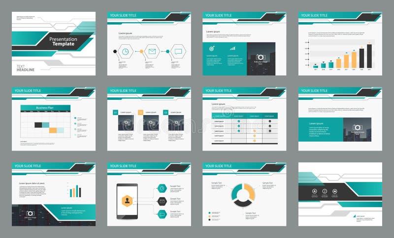 Diseño del diseño de página con la plantilla gráfica del elemento de la información para la presentación stock de ilustración