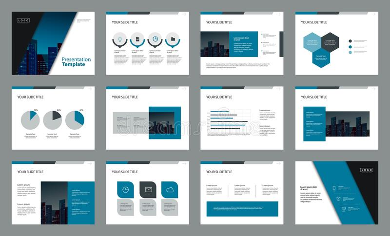 Diseño del diseño de página con la plantilla gráfica del elemento de la información para la presentación libre illustration
