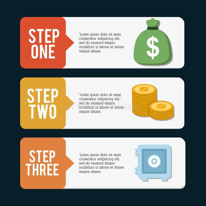 Diseño del dinero de Infographics, ejemplo del vector libre illustration