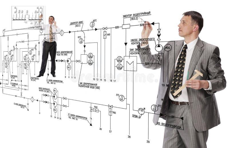 Diseño del edificio de la ingeniería imagen de archivo