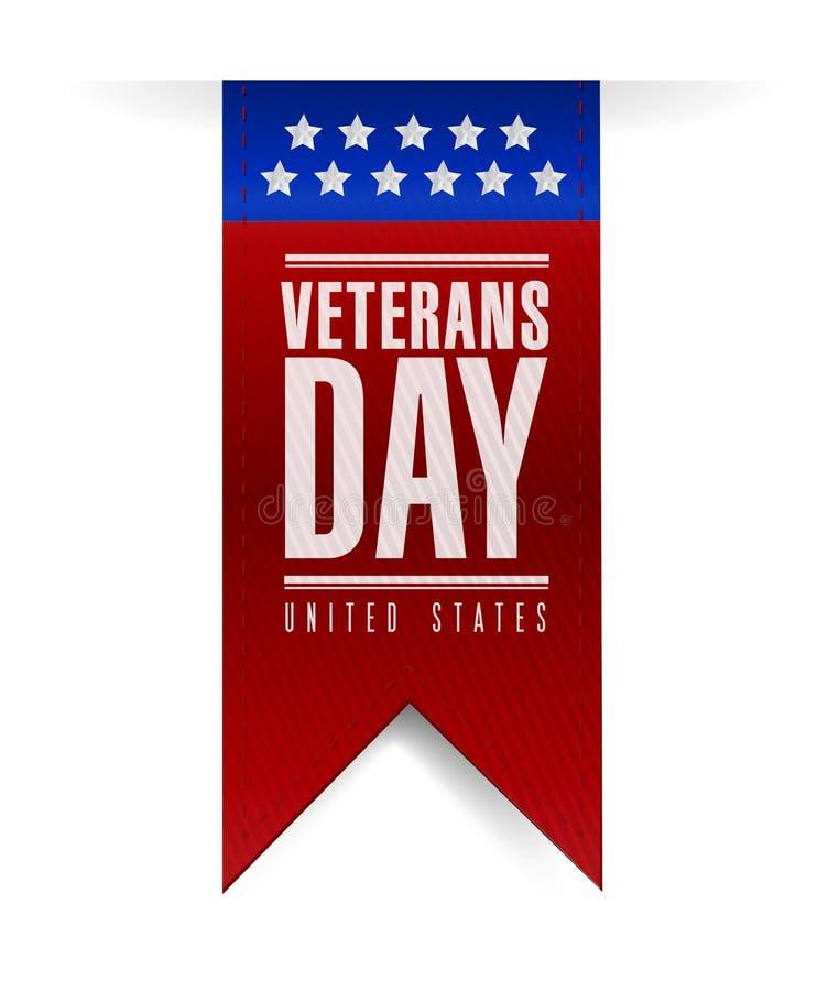 Diseño del ejemplo de la bandera del día de veteranos libre illustration