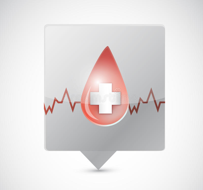 Diseño del ejemplo de la burbuja del mensaje de la cuerda de salvamento de la sangre libre illustration
