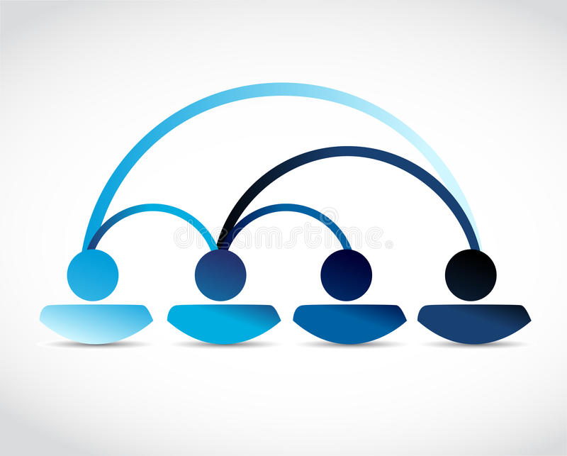 Diseño del ejemplo de la comunicación de la red de la gente stock de ilustración