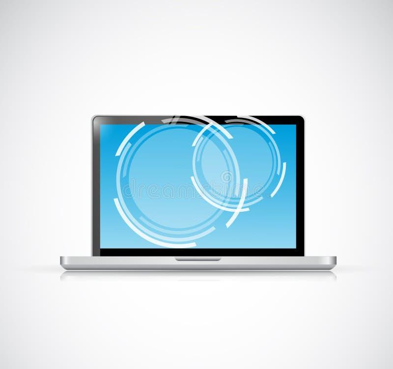 Diseño del ejemplo de la pantalla táctil del ordenador portátil libre illustration