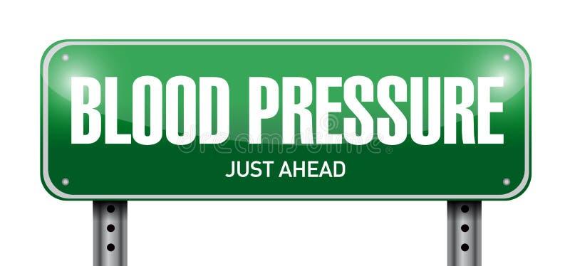 diseño del ejemplo de la señal de tráfico de la presión arterial ilustración del vector
