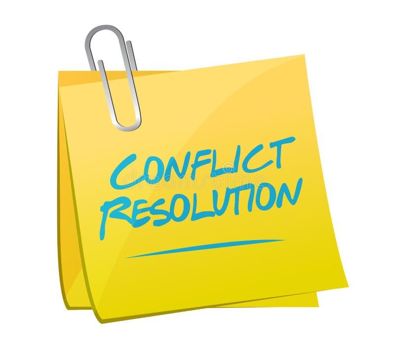 diseño del ejemplo de los posts de la nota de la resolución de conflicto ilustración del vector