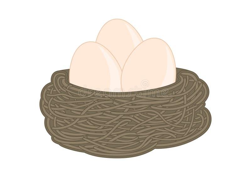 Diseño del ejemplo de una jerarquía con algunos huevos libre illustration