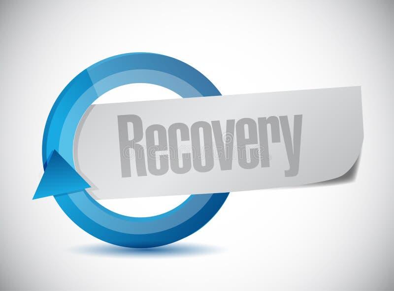 diseño del ejemplo del ciclo de la recuperación ilustración del vector