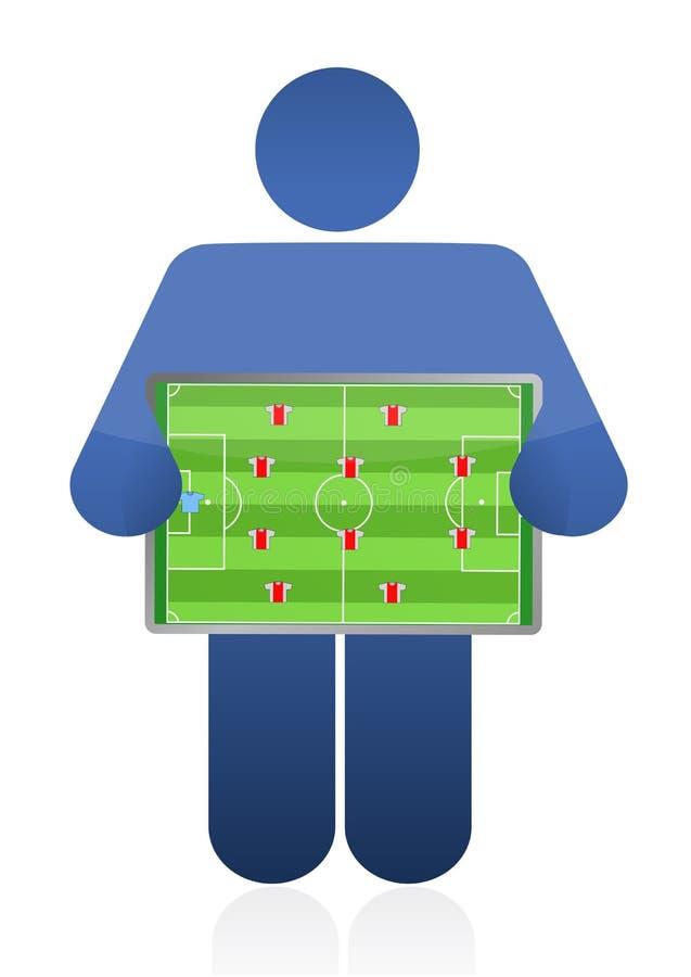 Diseño del ejemplo del coche del fútbol stock de ilustración