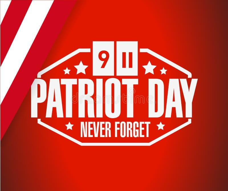 diseño del ejemplo del fondo de la muestra del día del patriota stock de ilustración