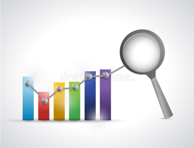 Diseño del ejemplo del gráfico de negocio del análisis de datos ilustración del vector