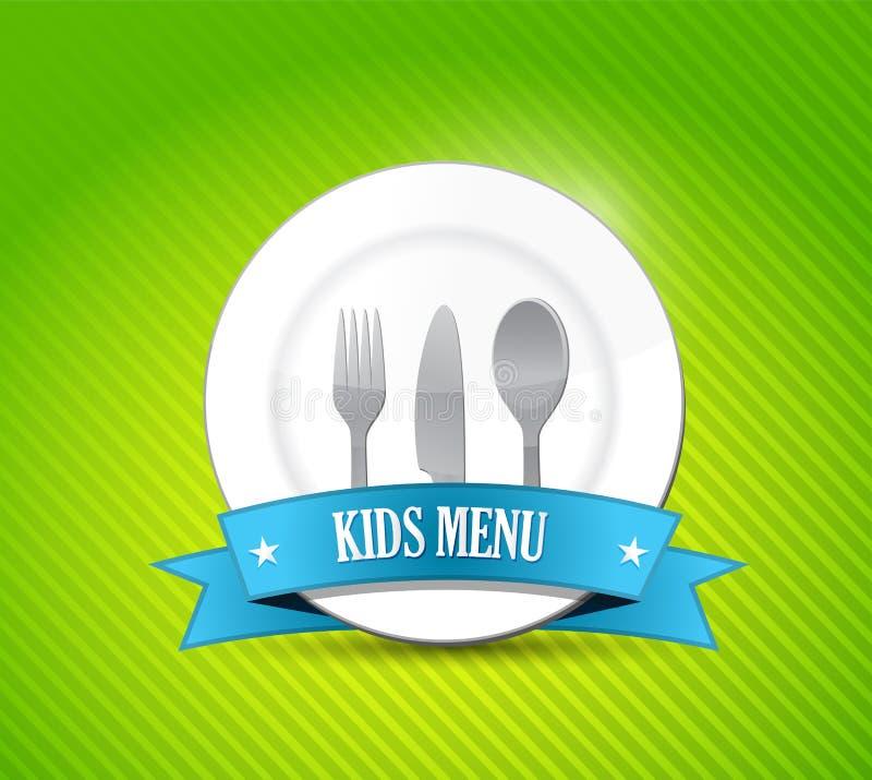 Diseño del ejemplo del menú de los niños libre illustration