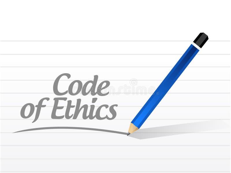 diseño del ejemplo del mensaje del código ético ilustración del vector