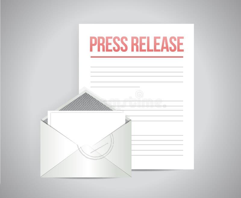 diseño del ejemplo del mensaje del correo del comunicado de prensa stock de ilustración