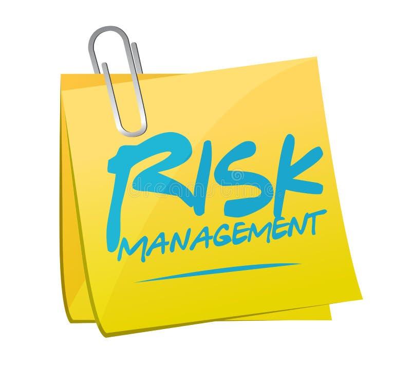 diseño del ejemplo del post-it de la gestión de riesgos stock de ilustración