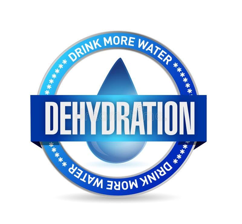 diseño del ejemplo del sello de la deshidratación ilustración del vector