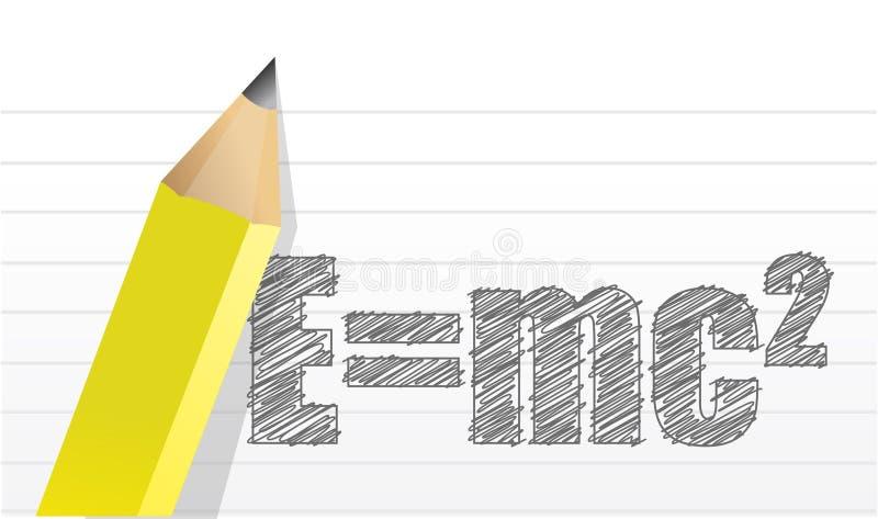 Diseño del ejemplo E=mc2 stock de ilustración