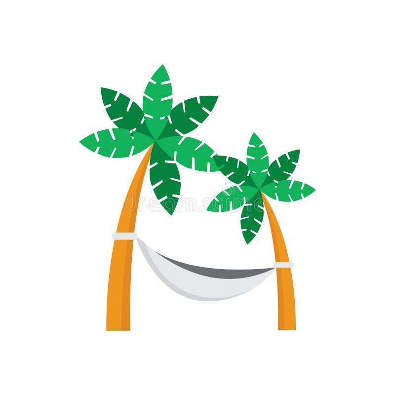 Diseño del ejemplo del gráfico de vector de la hamaca del árbol de coco libre illustration