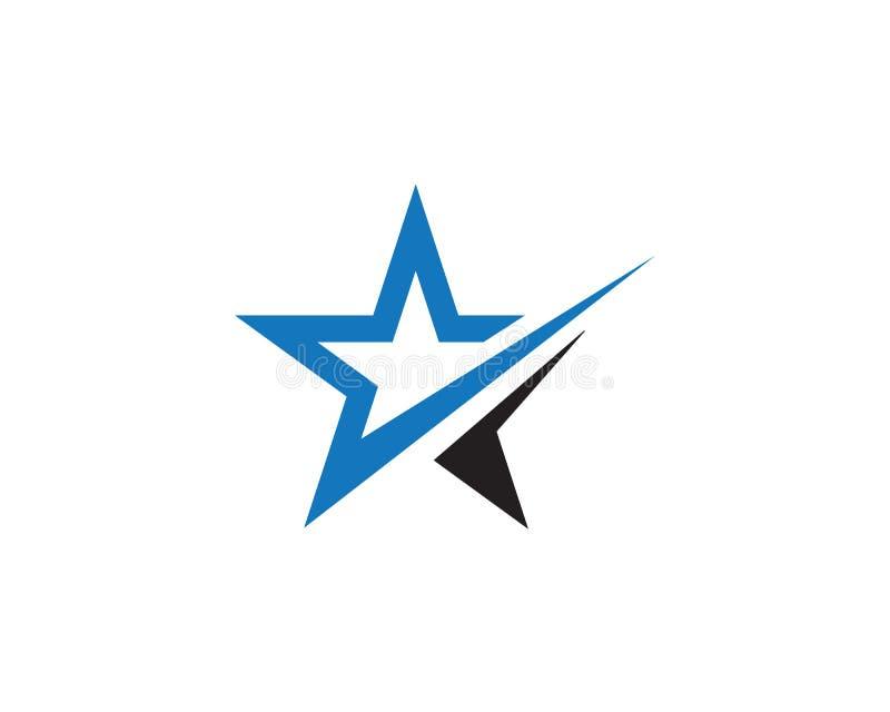 Diseño del ejemplo del icono del vector de Logo Template de la estrella libre illustration