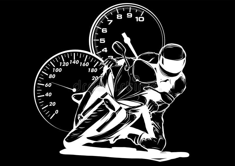 Diseño del ejemplo del vector de la opinión de los jinetes de la carlinga de la motocicleta libre illustration