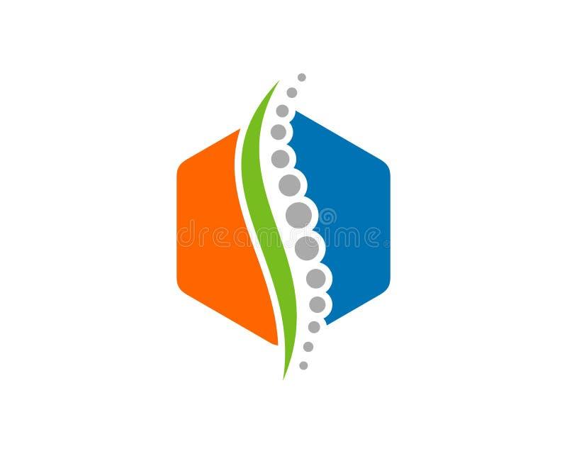 Diseño del ejemplo del vector de la plantilla del logotipo del símbolo de los diagnósticos de la espina dorsal ilustración del vector