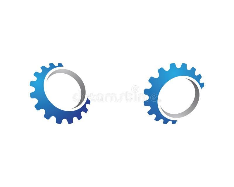 Diseño del ejemplo del vector de Logo Template del engranaje stock de ilustración