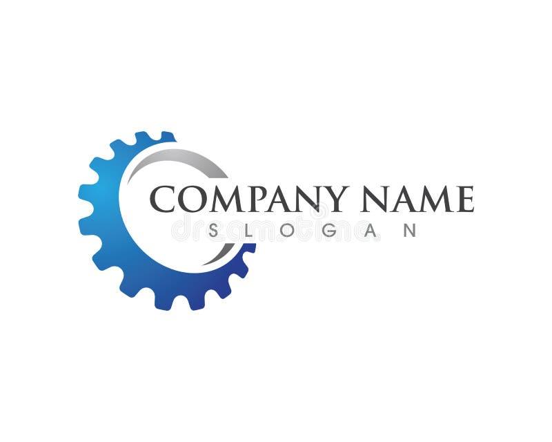 Diseño del ejemplo del vector de Logo Template del engranaje ilustración del vector