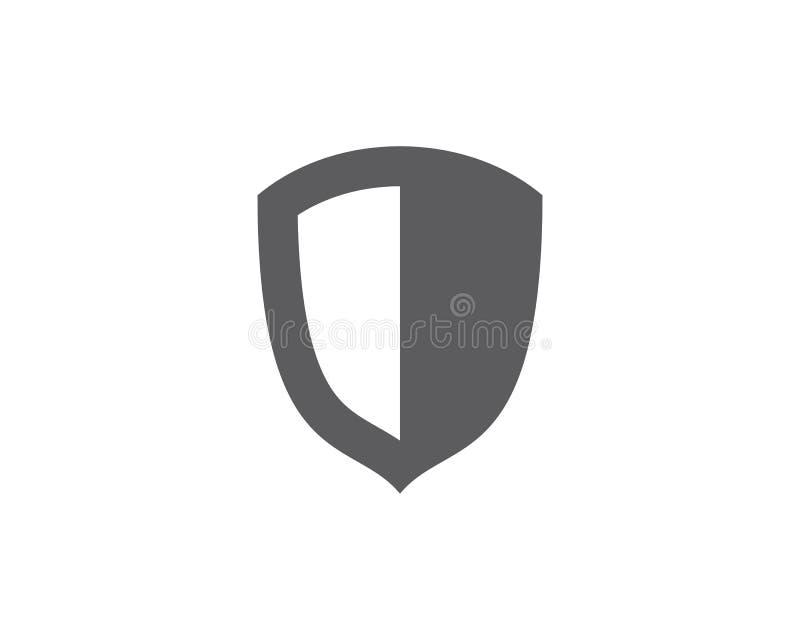 diseño del ejemplo del vector del escudo stock de ilustración