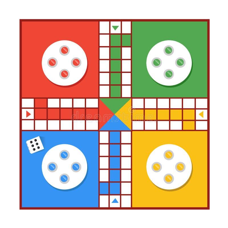Diseño del ejemplo del vector del juego de Ludo stock de ilustración