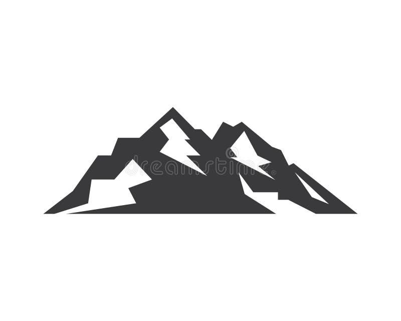 Diseño del ejemplo del vector del logotipo del icono de la alta montaña libre illustration