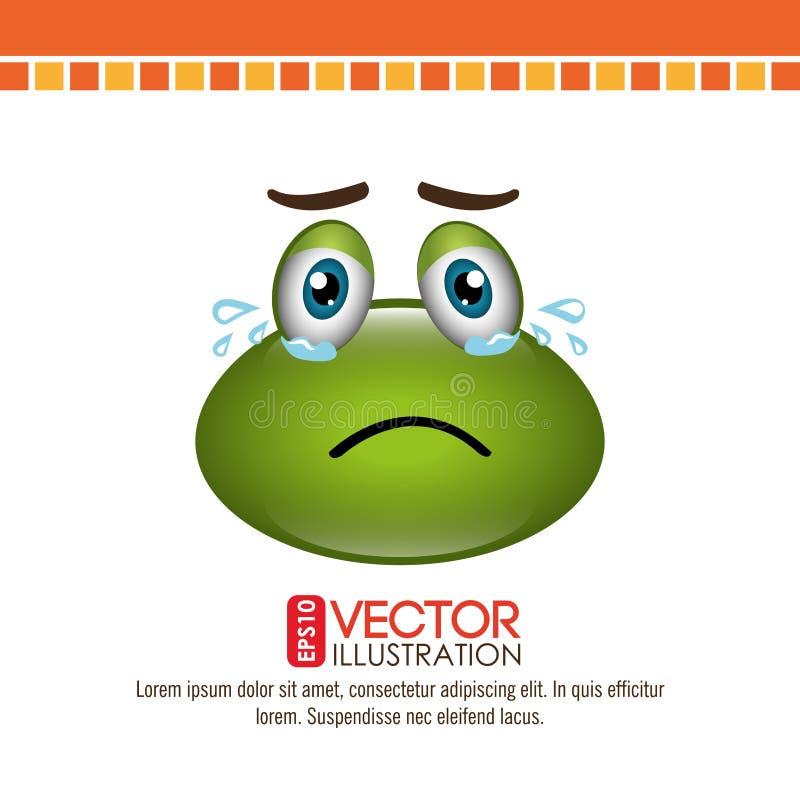 diseño del emoticon de la rana ilustración del vector