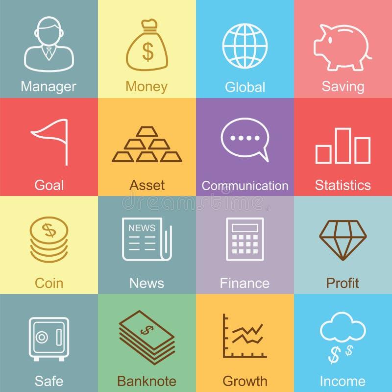 Diseño del esquema del negocio y de las finanzas ilustración del vector