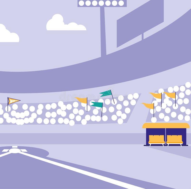 Diseño del estadio de béisbol libre illustration