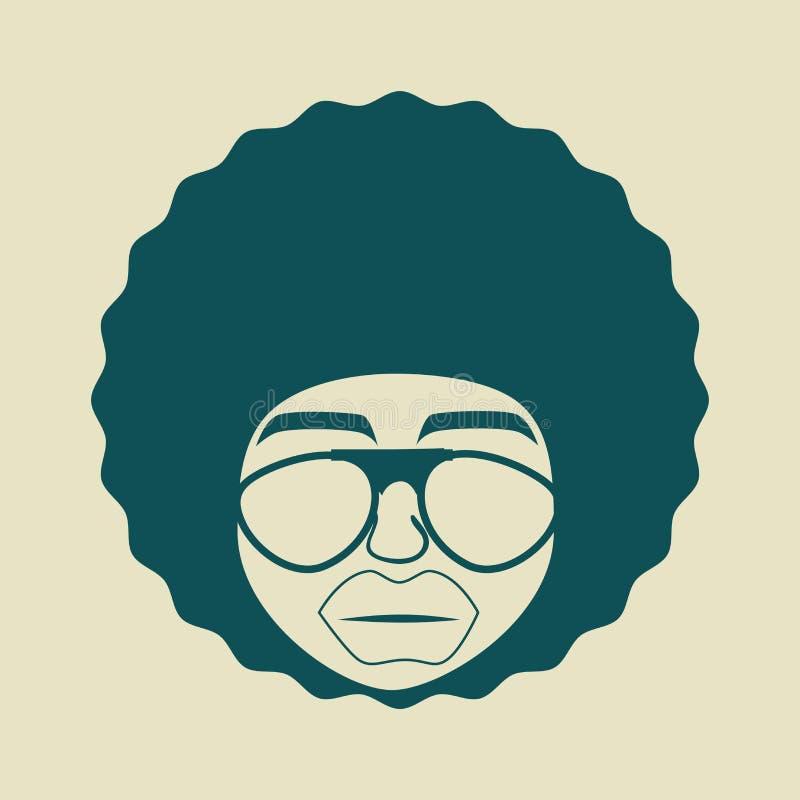 Diseño del estilo del Afro stock de ilustración