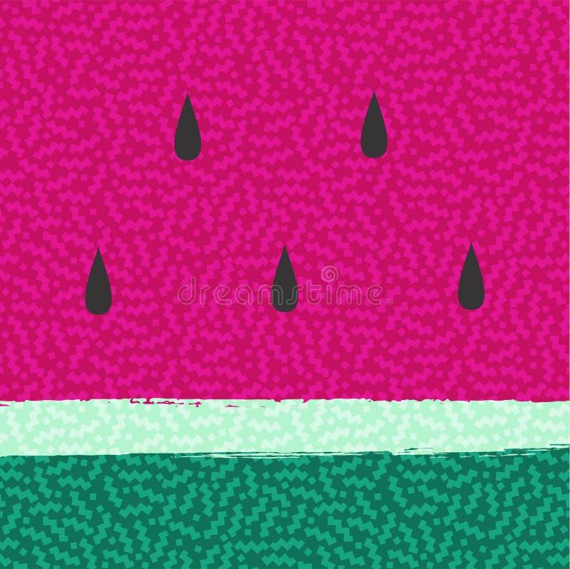 Diseño del extracto del fondo del verano de la sandía libre illustration