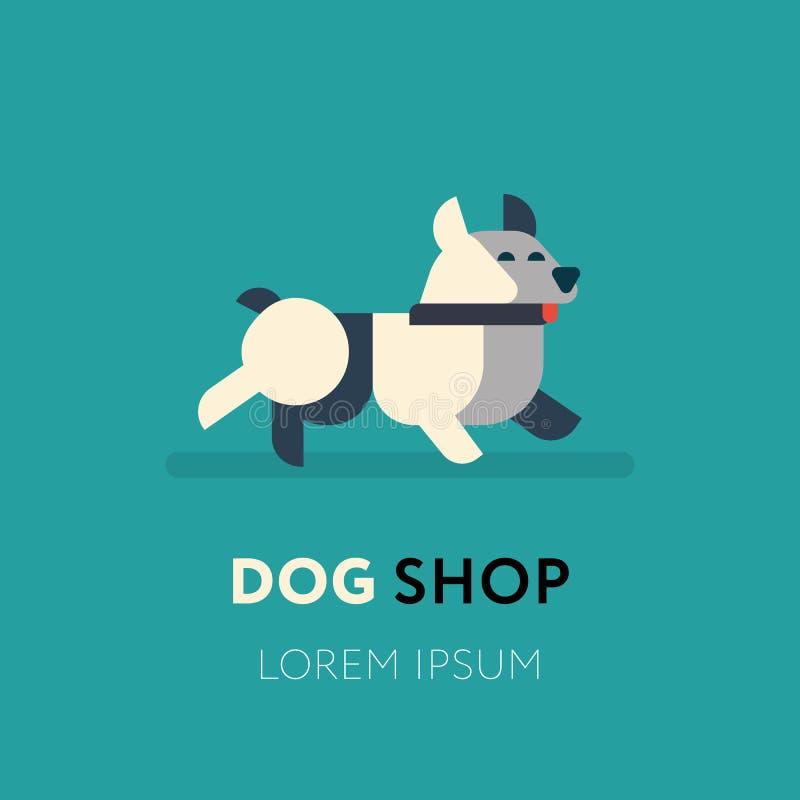 Diseño del extracto del logotipo del perro ilustración del vector