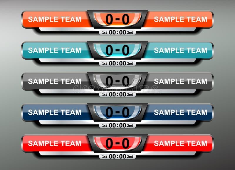 Diseño del fútbol del marcador stock de ilustración