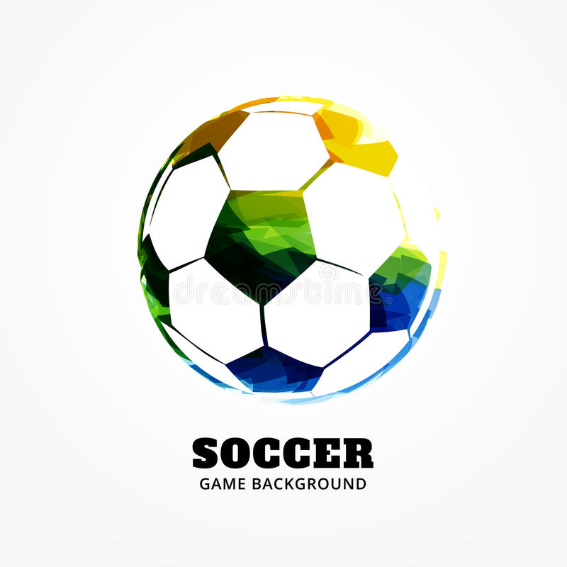 Download Diseño Del Fútbol Del Vector Ilustración del Vector - Ilustración de grunge, tinta: 41919562