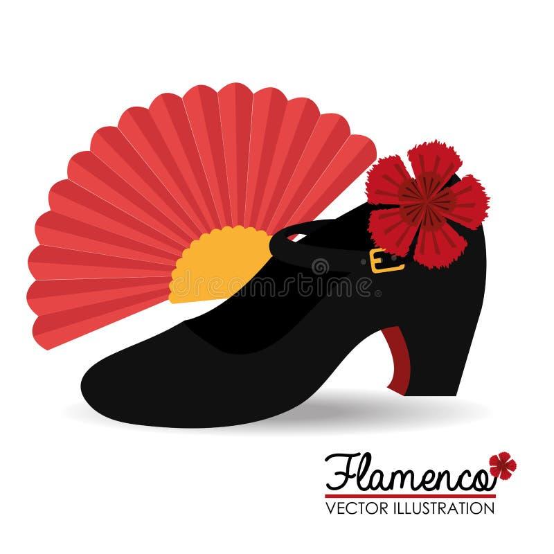 Diseño del flamenco, ejemplo del vector stock de ilustración