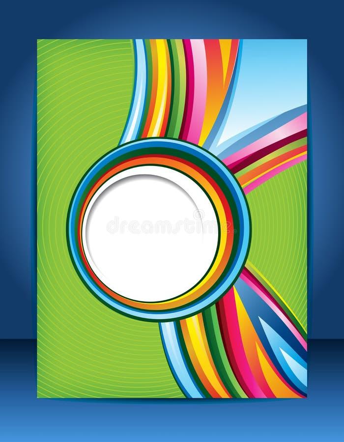 Diseño del folleto ilustración del vector