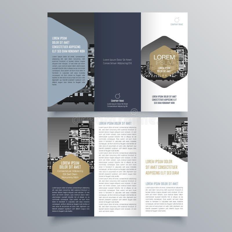 Diseño del folleto, plantilla del folleto stock de ilustración