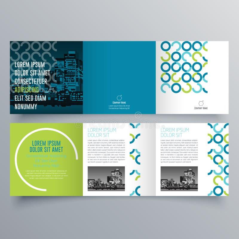 Diseño del folleto, plantilla del folleto libre illustration