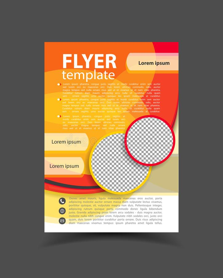 Diseño del folleto Plantilla del aviador Cartel Editable A4 para el negocio stock de ilustración