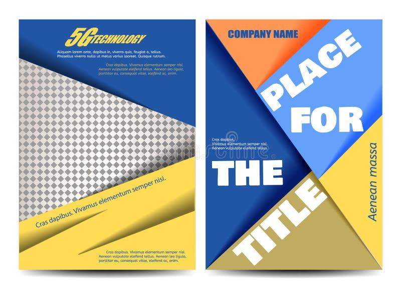 Diseño del folleto Plantilla del aviador Cartel Editable A4 para el negocio, educación, presentación, sitio web, portada de revis libre illustration