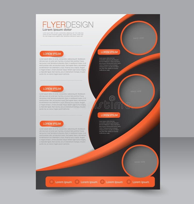 Diseño del folleto Plantilla del aviador Cartel Editable A4 stock de ilustración